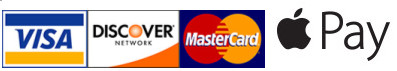We accept Visa, Mastercard, Discover, and Apple Pay
